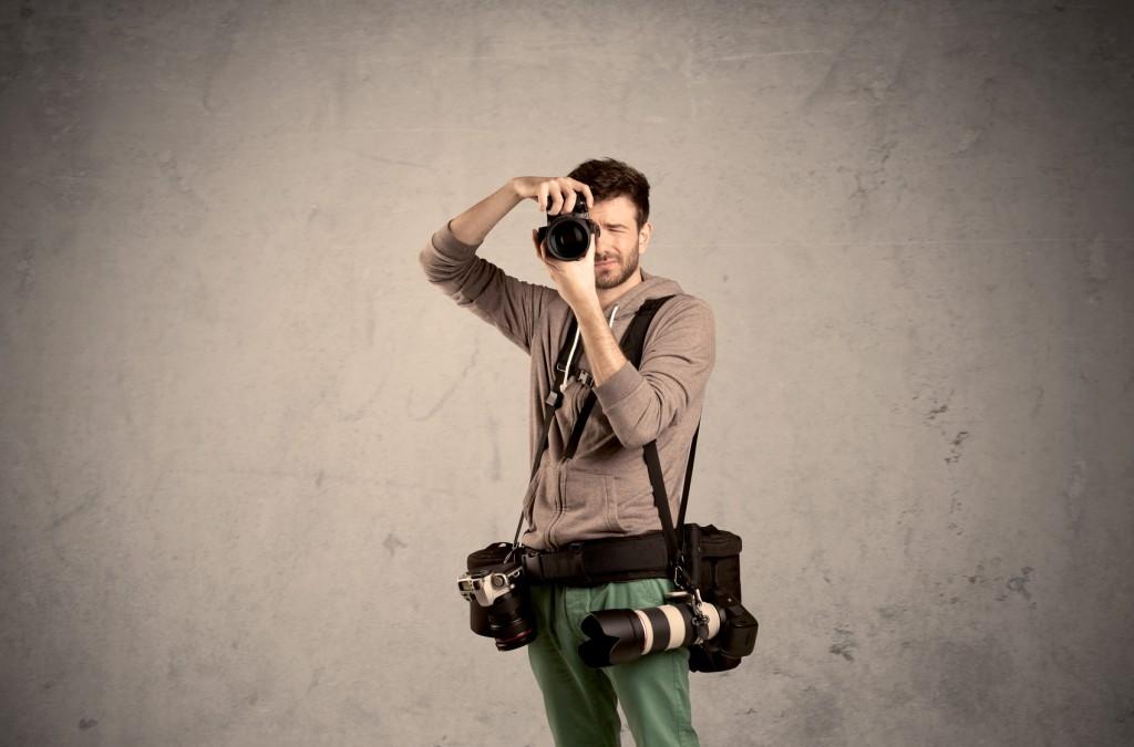 Fotograf beim Shooting